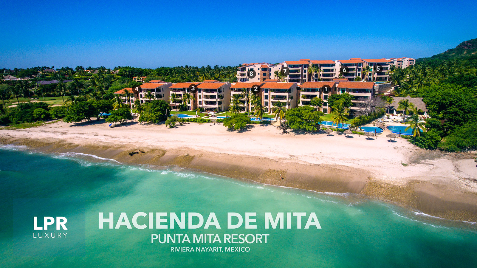 Hacienda de Mita - Punta Mita Resort beachfront condominiums for sale and rent. Riviera Nayarit, Mexico